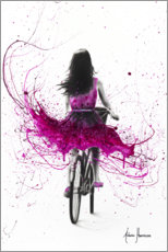 Póster Premium Pink cyclist