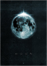 Quadro de madeira  Moon, La Luna - Black Sign Artwork