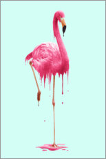 Póster Premium Melting flamingo