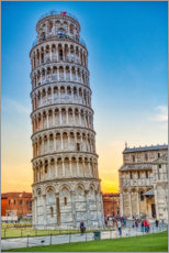 Póster Premium The leaning tower of Pisa