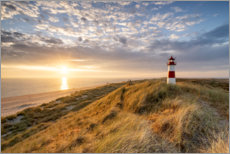 Quadro em alumínio  Lighthouse List East on Sylt - Jan Christopher Becke