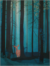 Póster Premium Fawn in the woods