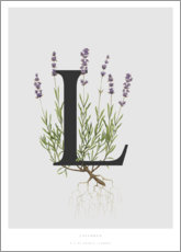 Póster Premium L is for Lavender