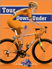 Póster Premium Tour Down Under Cycling Race