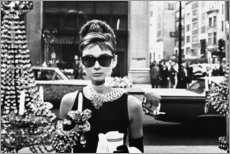 Quadro de madeira  Breakfast at Tiffany's - Celebrity Collection