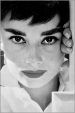 Póster Premium  Close-up de Audrey Hepburn - Celebrity Collection
