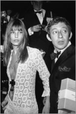 Póster Premium  Jane Birkin e Serge Gainsbourg - Celebrity Collection