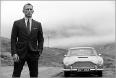 Póster Premium  Daniel Craig em James Bond, preto e branco - Celebrity Collection