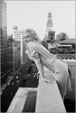 Póster Premium  Marilyn Monroe em Nova Iorque - Celebrity Collection