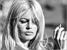 Póster Premium  Brigitte Bardot, cabelos ao vento - Celebrity Collection