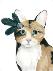 Autocolante decorativo  Gato de Downton I - Grace Popp