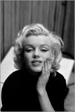 Póster Premium  Olhar sonhador de Marilyn Monroe - Celebrity Collection