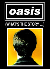 Quadro em alumínio  Oasis - What's The Story - Entertainment Collection