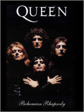 Quadro de madeira  Queen - Bohemian Rhapsody - Entertainment Collection