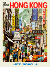 Póster Premium  Hong Kong - Jet BOAC - Travel Collection