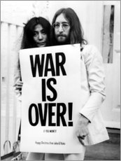 Póster Premium  Yoko & John - War is over!