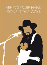 Póster Premium Waylon Jennings - Are You Sure Hank Done It This Way?