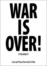 Póster Premium  War is over!