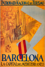Póster Premium  Barcelona (espanhol) - Travel Collection