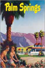 Póster Premium  Palm Springs - Travel Collection