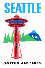 Póster Premium  Seattle - Travel Collection