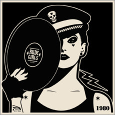 Quadro de madeira  Rude Girls Records I - dolceQ