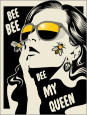 Póster Premium  Bee my queen - dolceQ