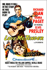Póster Premium  Love Me Tender (Inglês) - Entertainment Collection