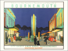 Póster Premium  Bournemouth - Henry George Gawthorn