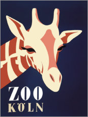 Póster Premium  Zoo Cologne (alemão) - Advertising Collection