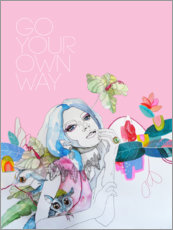 Póster Premium  Go your own way - Sharon England