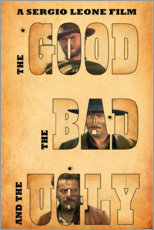 Póster Premium  The good, the bad and the ugly - Entertainment Collection