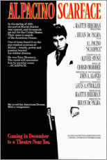 Póster Premium  Scarface (inglês) - Entertainment Collection