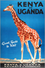 Póster Premium  Quênia e Uganda - Travel Collection