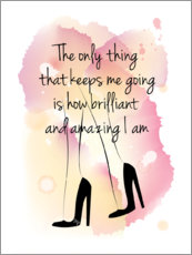 Autocolante decorativo  The only thing that keeps me going... - Martina illustration