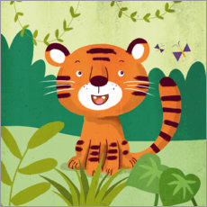 Autocolante decorativo  Little Tiger - Julia Reyelt