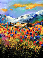 Autocolante decorativo  Field with wildflowers - Pol Ledent
