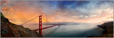 Autocolante decorativo  San Francisco Golden Gate with rainbow - Michael Rucker