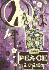 Autocolante decorativo  Give Peace A Chance - Elisandra Sevenstar