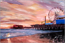 Autocolante decorativo  Santa Monica Pier at Sunset - M. Bleichner