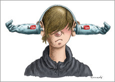 Autocolante decorativo  Youtube Boy - Marian Kamensky