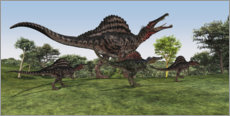 Autocolante decorativo  Spinosaurus mother with her cubs - Corey Ford
