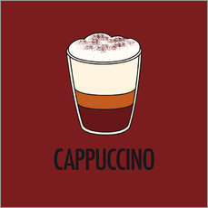 Autocolante decorativo Cappuccino, for the italian lover in you!