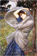 Autocolante decorativo  Bóreas - John William Waterhouse