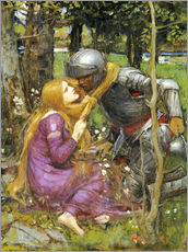 Autocolante decorativo  A study for La Belle Dame sans Merci - John William Waterhouse