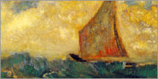 Autocolante decorativo  The Mystical Boat - Odilon Redon