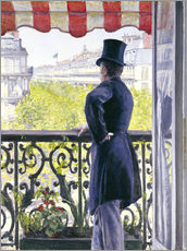 Autocolante decorativo  Man on a balcony - Gustave Caillebotte