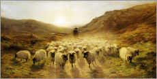 Autocolante decorativo  Leaving the Hills - Joseph Farquharson