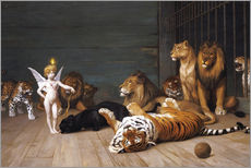 Quadro em plexi-alumínio  Whoever you are, Here is your Master - Jean Leon Gerome