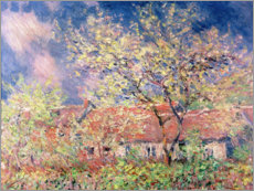 Póster Premium  Spring in Giverny - Claude Monet